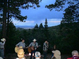 Evening Campfire at Clarks Fork