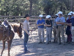 Horsemanshup briefing at Clarks Fork